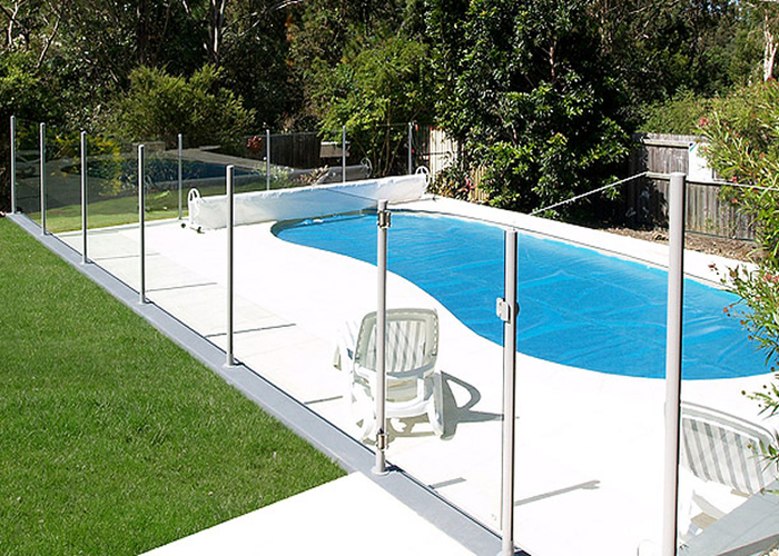 semi frameless glass pool fencing Perth
